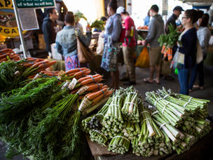 Check out one of the local farmer's markets in the Farm-to-Fork Capital!