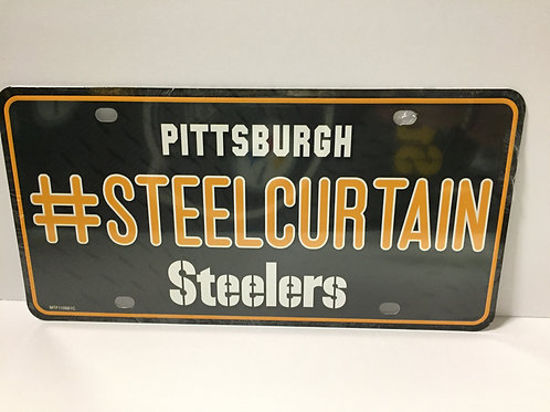 Pittsburgh Steelers - #SteelCurtain - License Plate