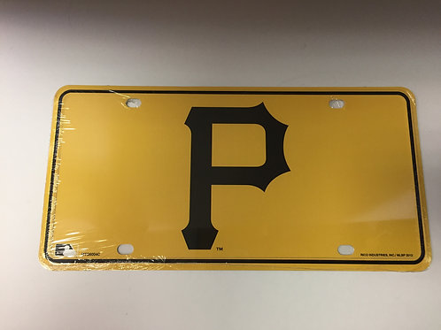 Pittsburgh Pirates Gold with Black Emblem - License Plate
