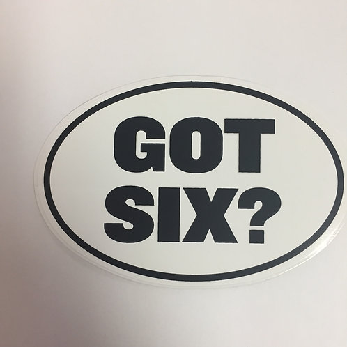 Pittsburgh Steelers 'Got Six?' Sticker