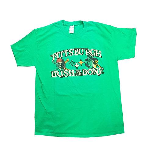 Pittsburgh Steelers/Penguins/Pirates St Patrick's Irish To The Bone T Shirt