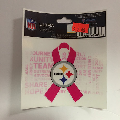 Pittsburgh Steelers Emblem Breast Cancer Ultra Decal