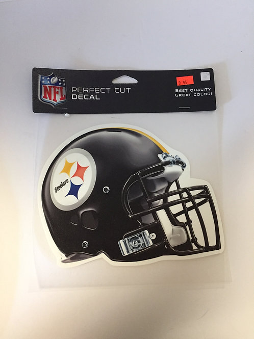 "Pittsburgh Steelers Helmet 7""x8"" Perfect Cut Decal"