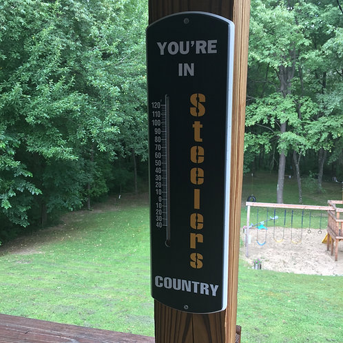 Pittsburgh Steelers 'You're In' Black Thermometer