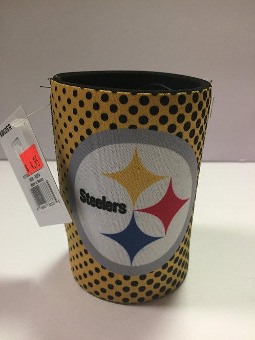 Pittsburgh Steelers Polka Dot Can Cooler Koozie