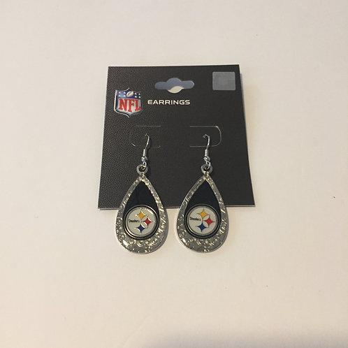 Pittsburgh Steelers Glitter Teardrop Earrings