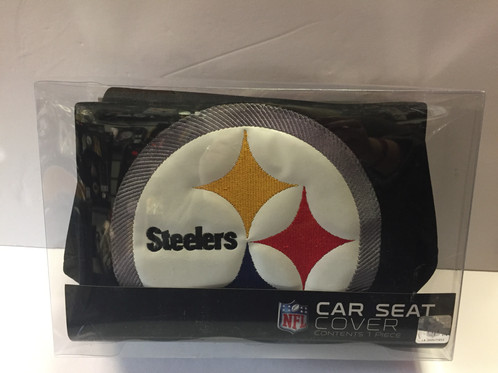 Give Your Car Or Truck A Steelers Upgrade With This Seat Cover Features Favorite Teams Emblem On Front