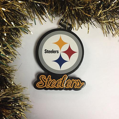 Pittsburgh Steelers Emblem Christmas Ornament.