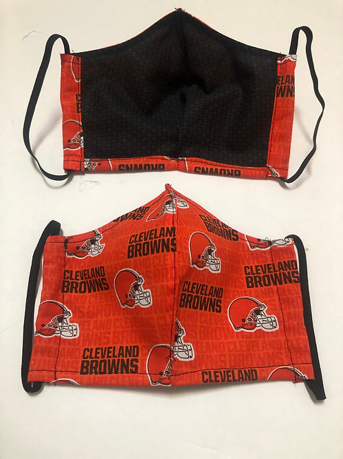 Browns Face Mask Washable (Individually Hand Made In The USA)