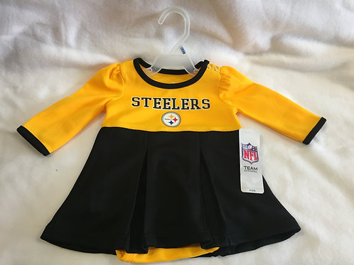 Pittsburgh Steelers Baby Girl Creeper/Dress CHEERLEADER 3-6M