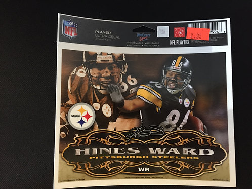 "Pittsburgh Steelers 6""x5"" Hines Ward Ultra Decal"