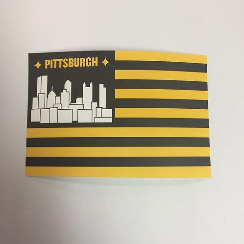 Pittsburgh City Flag Sticker