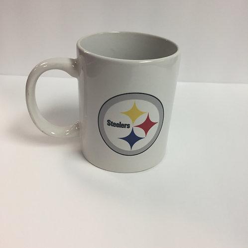 Pittsburgh Steelers 12oz White Emblem Mug