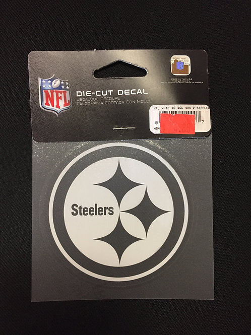 "Pittsburgh Steelers 3""x3"" White Emblem Die Cut Decal"
