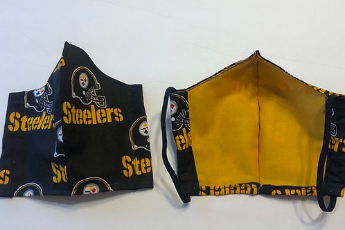 Steeler Face Masks With Helmets (Individually Hand Made In The USA)
