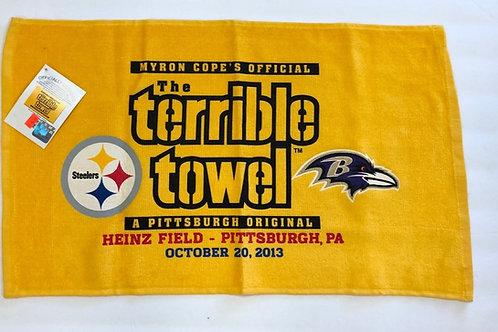 Pittsburgh Steelers Baltimore Ravens Terrible Towel