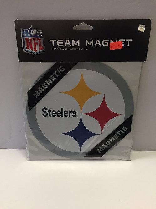"Pittsburgh Steelers 8""x8"" Team Emblem Magnet"