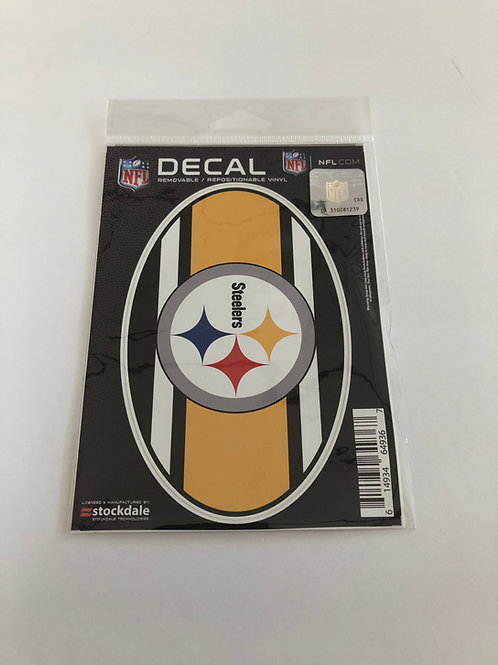 "Pittsburgh Steelers Jersey 8"" x 8"" Oval Repositionable Decal"