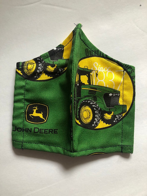 Kids Face Mask John Deere (Individually Hand Made In The USA) Washable