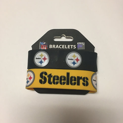 Pittsburgh Steelers 2 Pack Silicone Bracelets