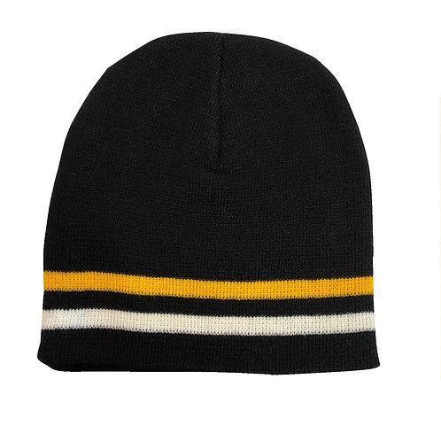 Pittsburgh Black, Yellow & White Beanie