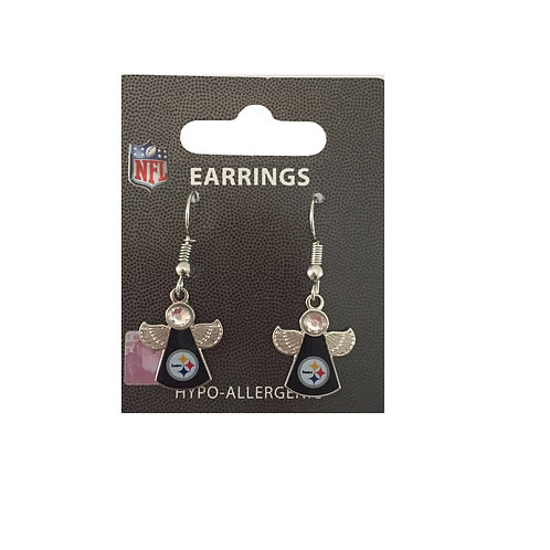 Pittsburgh Steelers Angel Earrings