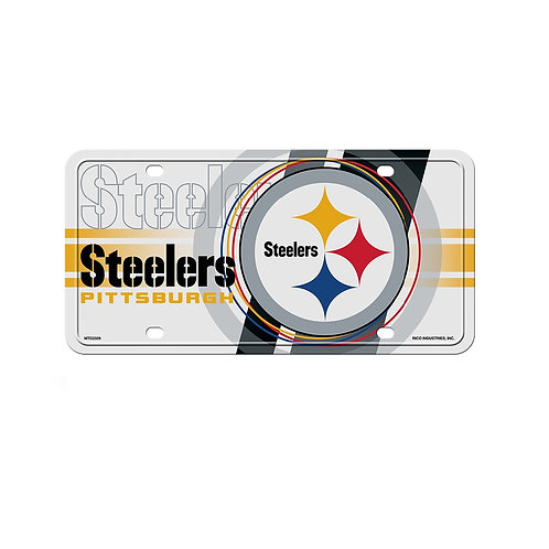 Pittsburgh Steelers Circle Design Metal - License Plate