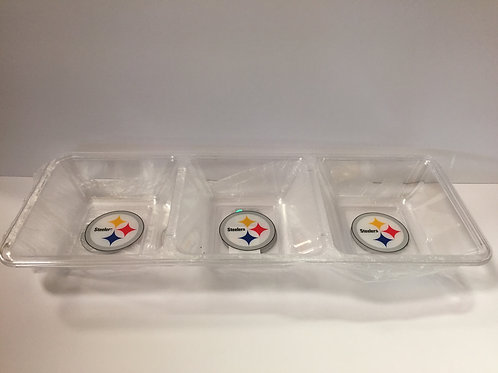 Pittsburgh Steelers Clear Snack Tray