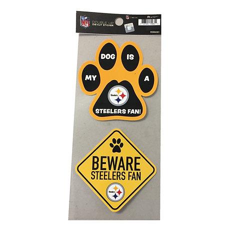 Pittsburgh Steelers 'My Dog' Die Cut Sticker Set