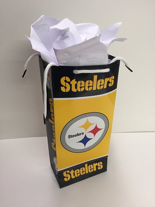 Pittsburgh Steelers Wine Gift Bag