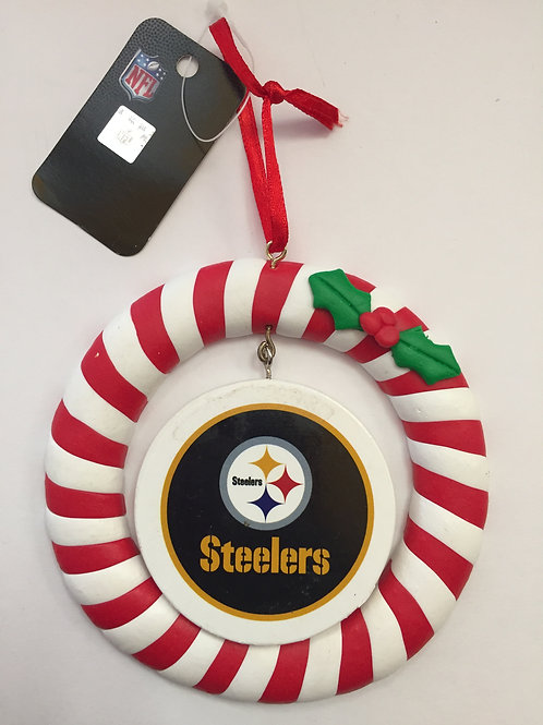 Pittsburgh Steelers Clay Dough Wreath Ornament.