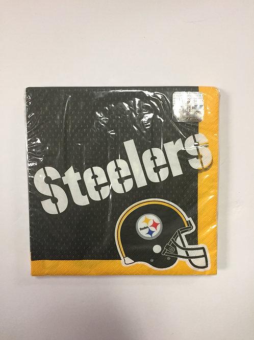 Pittsburgh Steeler Helmet Napkins x16