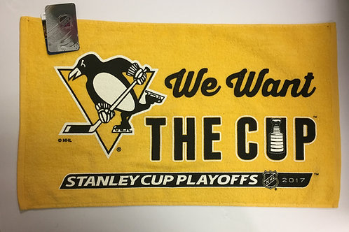 We Want The Cup - Penguins Towel
