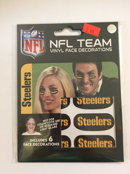 Pittsburgh Steelers Vinyl Face Decorations