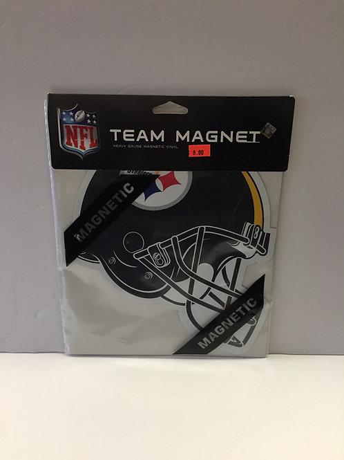 """Pittsburgh Steelers Helmet 8""""x8"""" Team Magnet"""