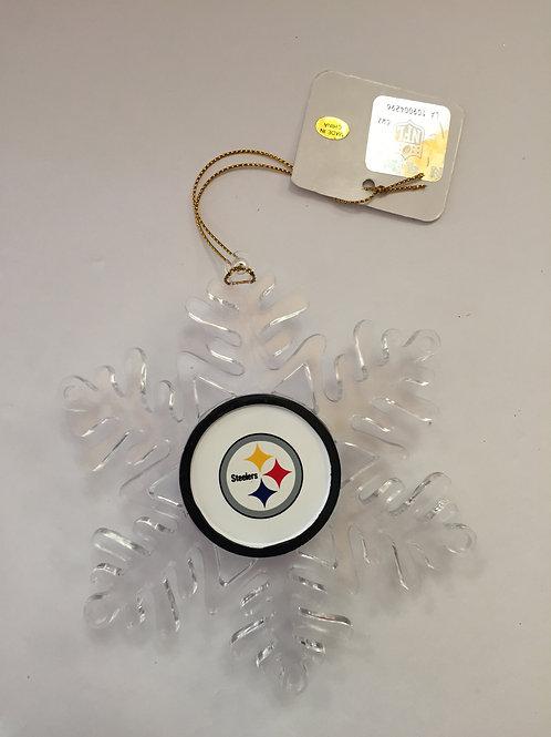 Pittsburgh Steelers Snowflake Ornament