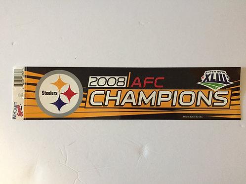 Pittsburgh Steelers 2008 AFC Champ Bumper Sticker