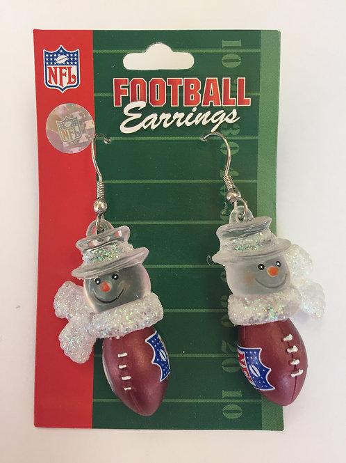 NFL Football Snowmen Earrings