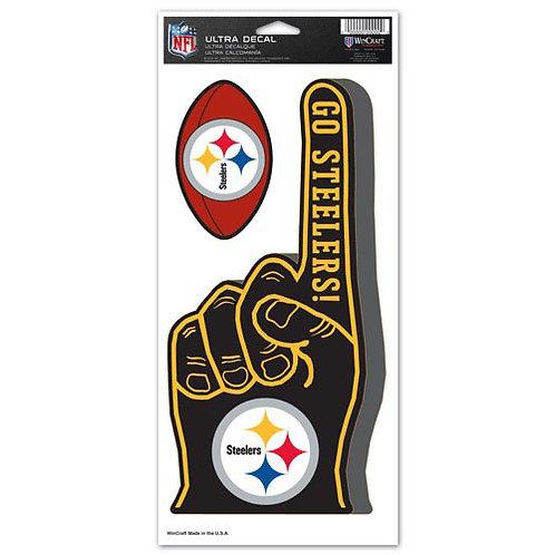 'Go Steelers' 2 Ultra Decals (Black)