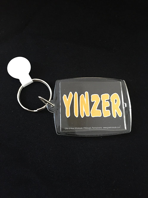 Pittsburghese Yinzer Black Keychain