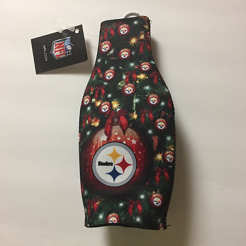 Pittsburgh Steelers Christmas Bottle Koozie