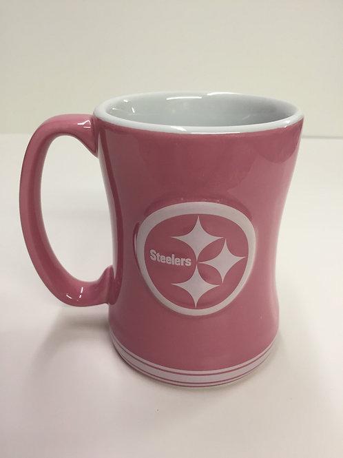 Pittsburgh Steelers Pink Emblem Mug