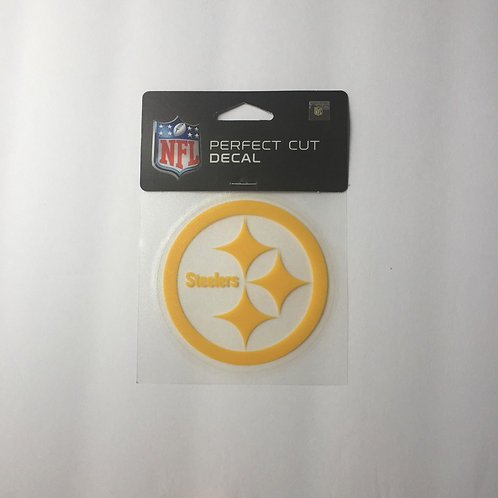 "Pittsburgh Steelers 4""x4"" Perfect Cut Yellow Emblem Decal"