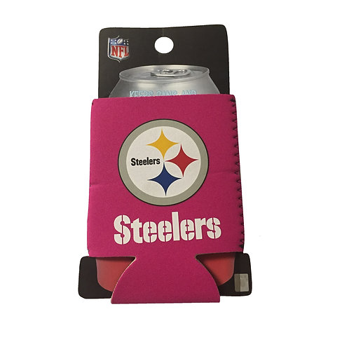 Pittsburgh Steelers Pink Foldable Can Koozie