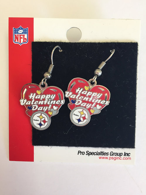 Pittsburgh Steelers Valentines Earrings