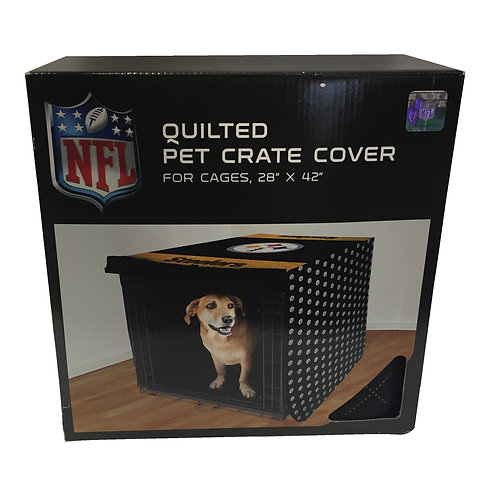 "Pittsburgh Steelers 28""x42"" Pet Crate Cover"