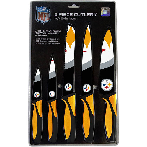 Pittsburgh Steelers 5 Piece Cutlery Knife Set