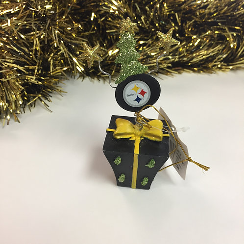 Pittsburgh Steelers Present & Tree Ornament.