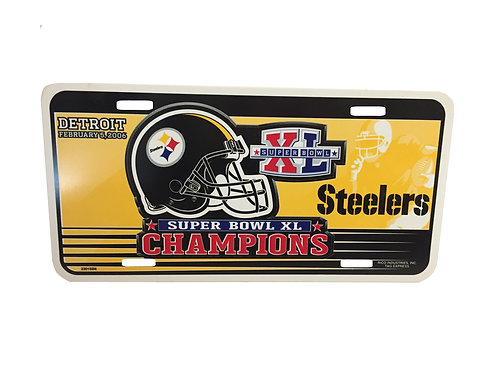 Pittsburgh Steelers Detroit SB Champions XL - License Plate
