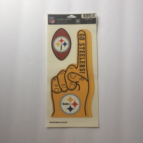 'Go Steelers' 2 Ultra Decals (Yellow)